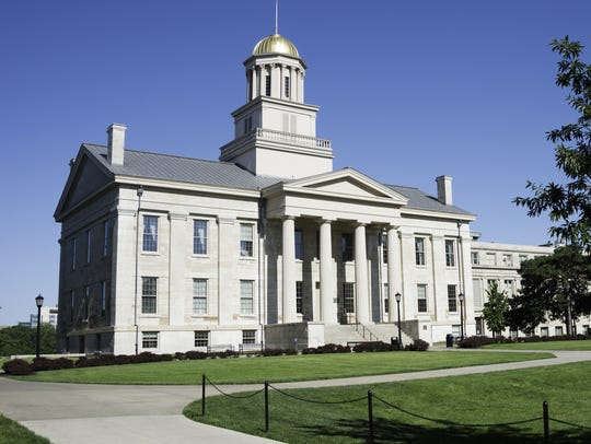 The Old Capitol building on the University of Iowa