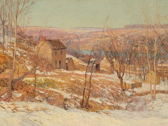 American impressionist Edward Willis Redfield was shown