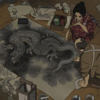 """A scene from """"Miss Hokusai."""" (Oriental Light and Magic)"""