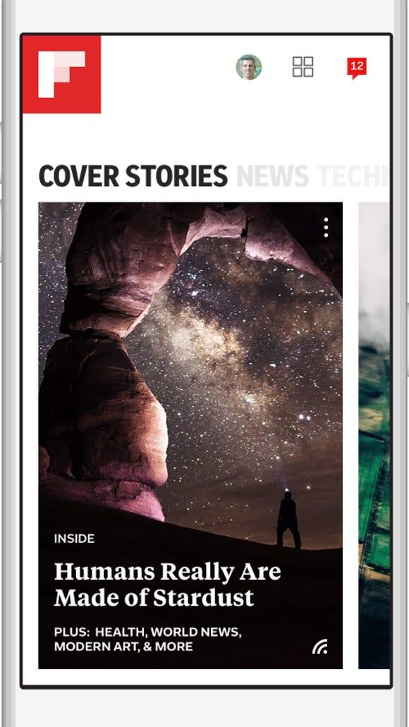 "Flipboard's new ""smart"" magazines."