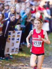 Monica Hebner of Northern Highlands leads the field