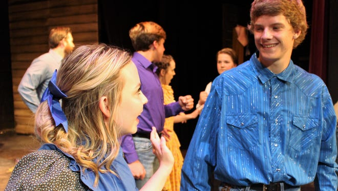 """The Pontipee brothers meet some pretty prospective brides in """"Seven Brides for Seven Brothers."""""""