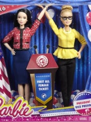 President Barbie and Vice President Barbie packaging.