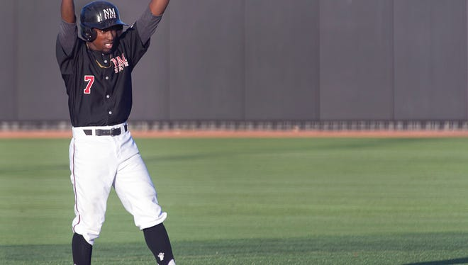 Former New Mexico State outfielder Daniel Johnson is one of the top 30 prospects for the Washington Nationals.