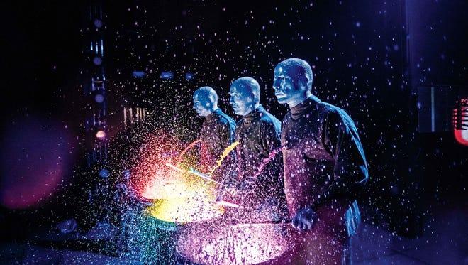 Blue Man Group returns to Emens Auditorium Monday, Feb. 29.
