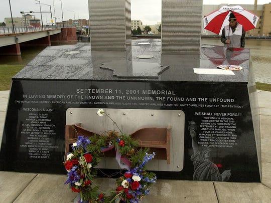 The Sept. 11 memorial in Green Bay.
