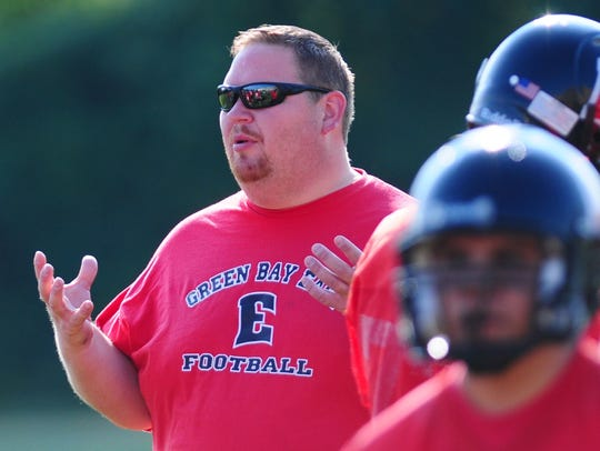 Brian Nast stepped down as the Green Bay East football