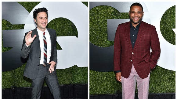 Zach Braff and Anthony Anderson at the GQ Man of the