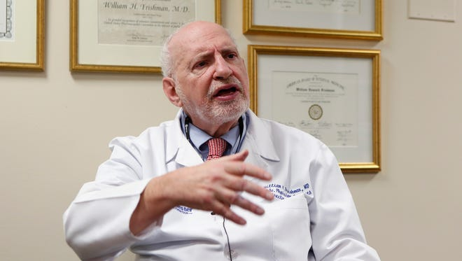Dr. William Frishman talks presidential trivia in his office at Westchester Medical Center's Taylor Pavilion in Valhalla on January 12, 2017.