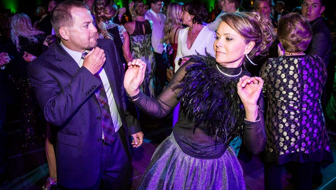 """People dance at the 2017 Rialzo, which had the theme, """"There's No Place Like Home."""""""