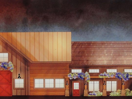 A rendering shows the design of the new Sharrott Winery