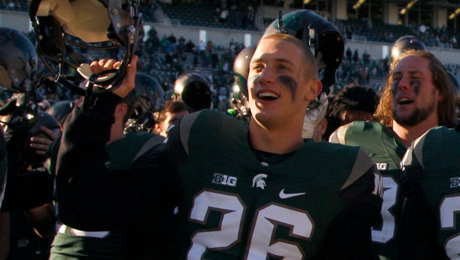 Michigan State wide receiver Austin Wolfe