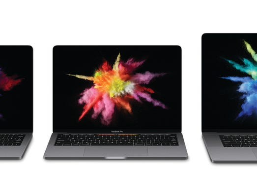 The new MacBook Pro with Touch Bar.