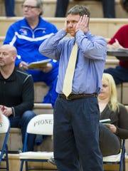 Homestead girls basketball coach Rod Parker.