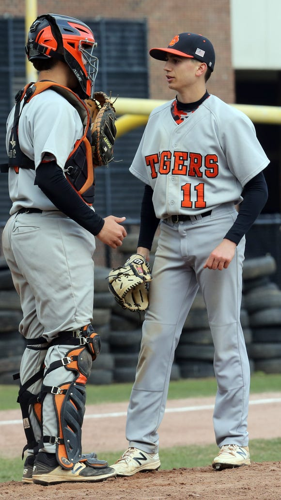 White Plains' battery holds a mound conference Wednesday