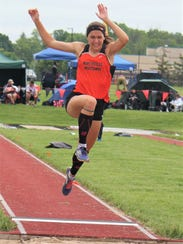 Northville's Clare McNamra sores to a first place in