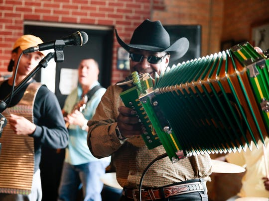 Leroy Thomas plays with his the Zydeco RoadRunners during the Zydeco Breakfast at its new home, Buck & Johnny's, in Breaux Bridge Sat., Jan. 14, 2017.