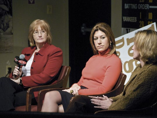 Sherry Ross, Tina Cervasio and Kelly Whiteside discuss their experiences as women covering sports during a forum at the Yogi Berra Museum in 2009.