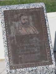 Ulysses Grant marker on the Long Branch boardwalk