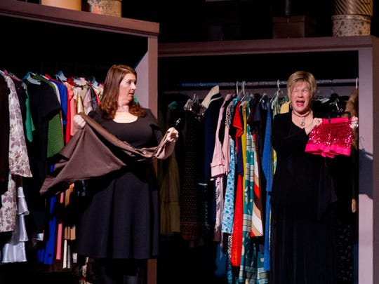 """Candi Vincent and Paula Boenigk are both cast members in Civic Theatre's presentation of """"Love, Loss and What I Wore."""""""