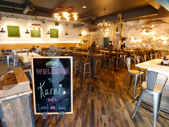 Karai Ramen + Handroll, on Republic Road just east of Campbell Avenue, opened Monday, Feb. 5. The new restaurant serves Japanese ramen dishes, hand-roll sushi, rice bowls, steamed buns and even desserts like green tea creme brulee.