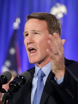 Ohio Secretary of State Jon Husted, shown here the night he won re-election in 2014, is running for governor.