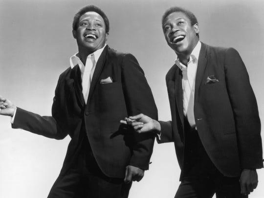 Sam and Dave, the legendary soul music duo of Samuel Moore, left, and David Prater.