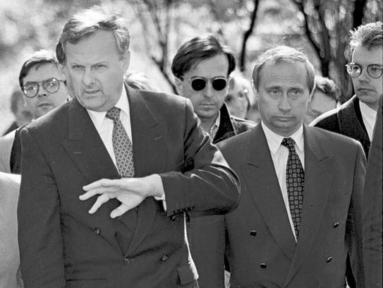 In this file photo taken in 1994, Anatoly Sobchak,