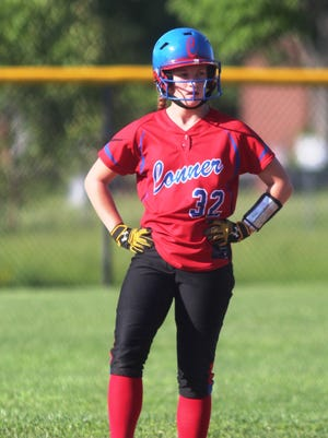 Conner's Corin Crawford stands at second during a 5-2 win over Boone County Friday.