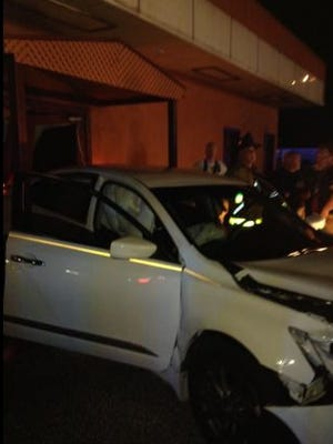 Vehicle crash in Mims on Saturday evening