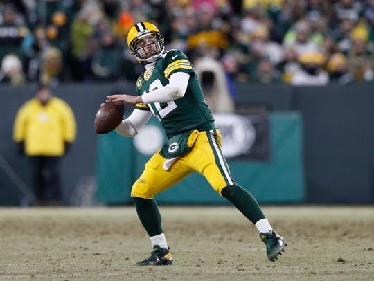 Jan 8, 2017; Green Bay Packers quarterback Aaron Rodgers