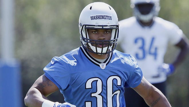 Rookie running back Dwayne Washington (36) started out as a receiver in high school.