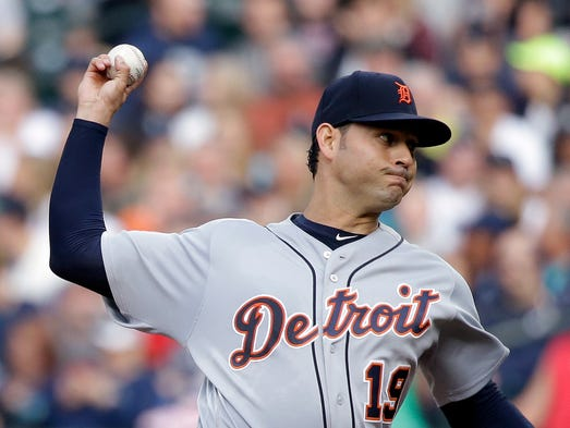 Starter Anibal Sanchez of the Detroit Tigers delivers