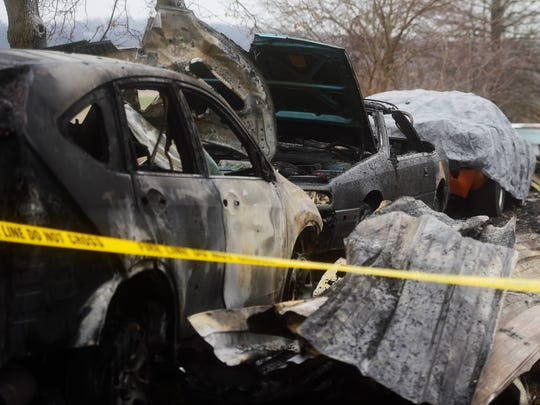 Several cars were destroyed in the fire, in addition to the home.