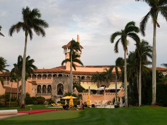 President Trump has been sued for mixing business with pleasure by groups seeking a list of visitors to his Mar-a-Lago retreat.
