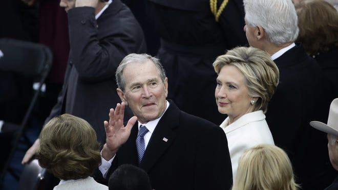 Former President George W. Bush at Jan. 20. 2017 inauguration of President Donald Trump.