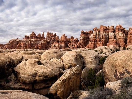 Chesler Park in the Needles District of  Canyonlands National Park, Utah.