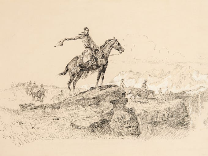 """Number 10: """"The Dude Wrangler"""" by Charles M. Russell"""