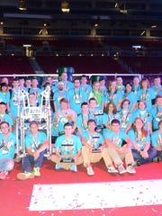 The Wave Robotics varsity program team at the FIRST