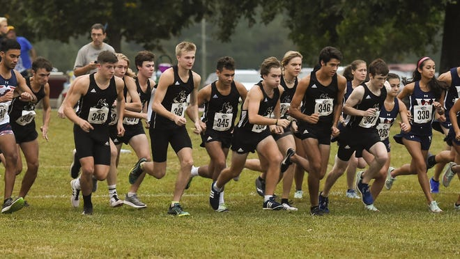 Wofford's men's and women's cross country teams compete in last year's Eye Opener meet in Spartanburg, S.C.