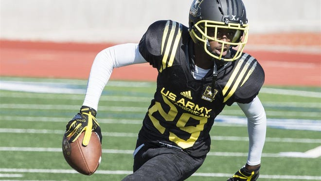 FSU wide receiver commit D.J. Matthews during Army Bowl practice.
