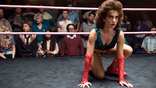 Alison Brie plays an actress who joins a group of female wrestlers in Netflix's 'Glow.'