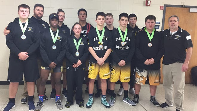 The Fairview High School wrestling squad who competed in the MTWOA Grand Championship For Freshmen, Junior Varsity & Girls Divisions January 21 at McGavock High School in Nashville.
