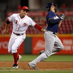 Reds blanked in series finale with Brewers
