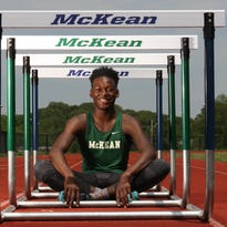16 year-old Ryan Thompson, a junior at McKean High School, who is the state champion hurdler.