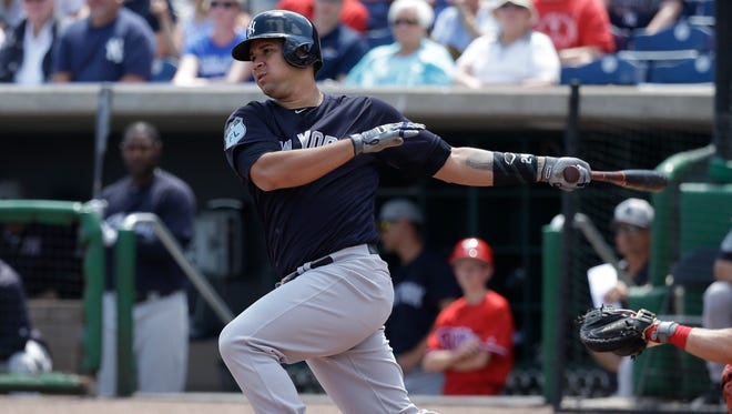The Yankees might be using catcher Gary Sanchez in the No. 2 spot of the lineup to break up the lefties at the top of the order.