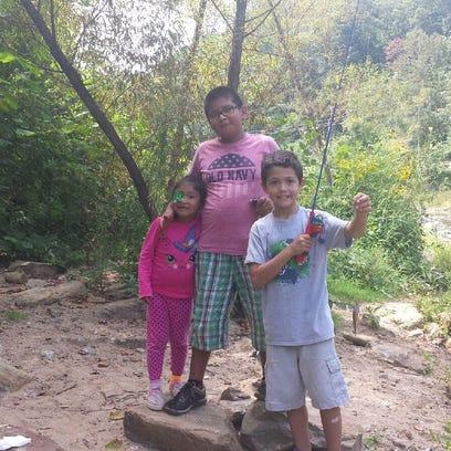 Milena Alejandro-Bautisa, 5, and her brother Alexander