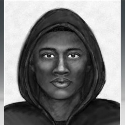 A composite sketch that may be similar to the suspect.