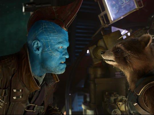 Yondu (Michael Rooker) and Rocket (voiced by Bradley