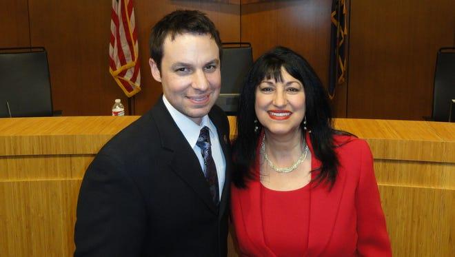 Arizona House Speaker J.D. Mesnard and his mother, Chandler City Councilwoman Nora Ellen